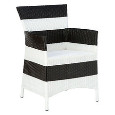 striped outdoor armchair