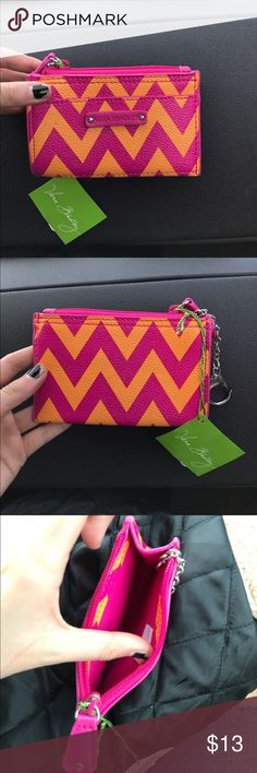 Vera Bradley coin purse never used, pink and orange zig zags Vera Bradley Bags Wallets