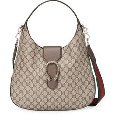 Gucci Dionysus medium GG Supreme hobo (24.064.770 IDR) ❤ liked on Polyvore featuring bags, handbags, shoulder bags, grey, gucci shoulder bag, grey leather handbag, hobo shoulder bags, leather handbags and leather hobo shoulder bag