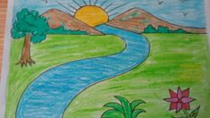 drawing scenery easy nature landscape drawings draw shapes basic mountains simple mountain cool landscapes pencil