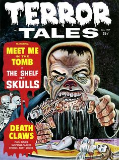 TERROR TALES 8, SILVER AGE HORROR COMIC MAGAZINE want this as a tattoo!!!