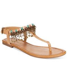 Rampage Preingly T-Strap Thong Sandals - Sandals - Shoes - Macy's