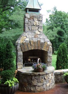 Veranda Series Outdoor Fireplace Kit with unique customization including arched opening and a curved custom hearth. See also My Home - 31 Waterside\New House Rustic Outdoor Fireplaces, Outdoor Fireplace Plans, Outside Fireplace, Outdoor Fireplace Designs, Backyard Fireplace, Backyard Patio, Small Fireplace, Rumford Fireplace, Fireplace Frame