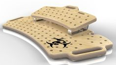 Interesting design for a velcro free pedal board.  Chemistry Holeyboard WIDE Guitar Effects Pedal Board   eBay $108