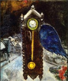 marc-chagall, clock-with-blue-wing-1949