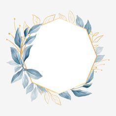 Logo Floral, Flower Logo, Framed Wallpaper, Flower Background Wallpaper, Flower Backgrounds, Watercolor Background, Logo Fleur, Wedding Frames, Card Wedding