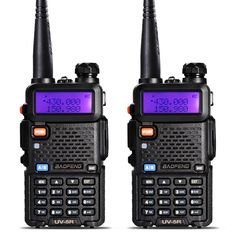 2Pcs BaoFeng UV-5R Walkie Talkie VHF/UHF136-174Mhz&400-520Mhz Dual Band Two way radio Baofeng uv 5r Portable Walkie talkie uv5r