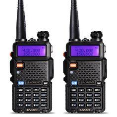 2 cái baofeng uv-5r walkie talkie vhf/uhf 136-174 mhz & 400-520 mhz dual band hai cách phát thanh baofeng uv 5r xách tay walkie talkie uv5r