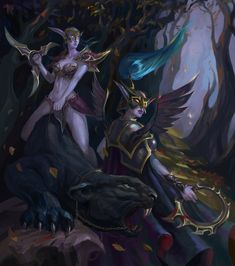 Maiev Shadowsong by Dead-Wintera on DeviantArt World Of Warcraft Game, World Of Warcraft Characters, Warcraft 3, Fantasy Characters, High Fantasy, Fantasy Art, Dc Comics, Night Elf, Heroes Of The Storm