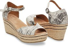 Cantaloupe Suede Graffiti Women's Platform Wedge | TOMS