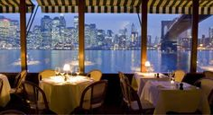 NYC. Brooklyn. The River Cafe. Great view over Manhattan!!