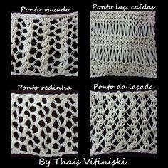 By Thaís Vitiniski: Receitas de 4 pontos em trico para cachecóis !!!