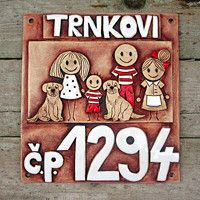House Plaques, Ceramic Houses, House Numbers, Signage, Plates, Home Decor, Home, Cement, Licence Plates