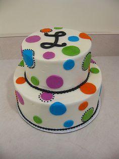polka dot cake by megpi, via Flickr
