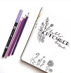 pretty bullet journal layout for September