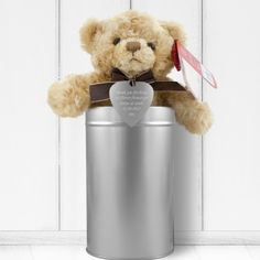 Personalised Teddy in a Tin