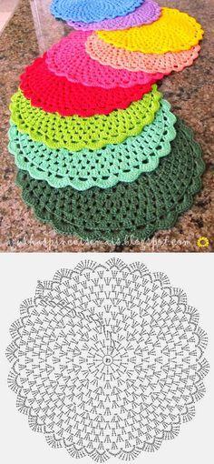 Салфетка круглая крючком. Как связать салфетку крючком схема | Все о рукоделии: схемы, мастер классы, идеи на сайте labhousehold.com