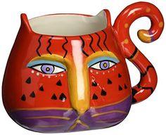 Westland Giftware Indigo Mares Acrylic Tumbler with Lid and Straw 16 oz Multicolor