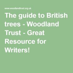 The guide to British trees - Woodland Trust - Great Resource for Writers!