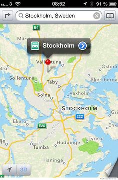 29 best on the map ios map fails images on pinterest apple its never been harder to find stockholm perhaps apple should have read simon garfields latest gumiabroncs Choice Image