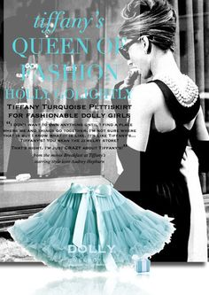 DOLLY by Le Petit Tom ® QUEEN OF FASHION pettiskirt turquoise