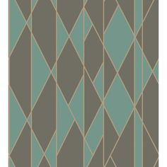Cole & Son OBLIQUE TEAL AND BLACK Wallpaper