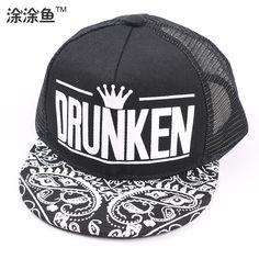 fashion-brand-DRUNKEN-letter-cashew-flowers-print-crown-flat-brimmed-child-snapback-hats-summer-hip-hop.jpg (750×750)