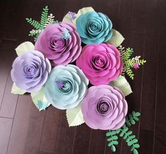 Create your own beautiful flowers with this amazing template. Purchase includes 8 different petals sizes, three different size rose centers, three different size circles, and links to videos and posts to help you get started on making beautiful paper flowers. Flowers can range