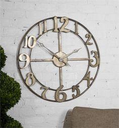 "Uttermost Delevan 32"" Metal Wall Clock (06681)"