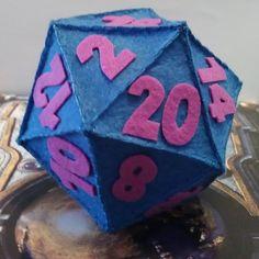 Dado de 20 caras, D20, Dado de Rol hecho con fieltro, Since RPG, Felt de LaTiendaDeLore en Etsy