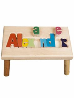 Our beautiful Puzzle Name Stools are perfect to give as a baby shower or first birthday gift and each stool is crafted just for you, so allow 2 - 4 weeks to ensure it is done correctly.