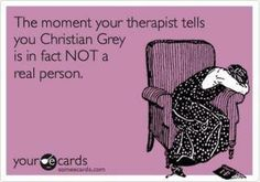 Fifty Shades of Grey! Love these books, can't even imagine who will play Christian and Ana in the movie!