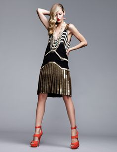 black and gold 1920's style- love the shoes with it!