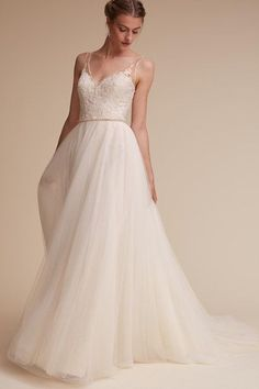 Ivory/champagne Cassia Gown   BHLDN