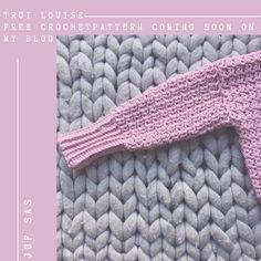 Trui Louise handmade by juf Sas met gratis haakpatroon Crochet Blanket Patterns, Baby Blanket Crochet, Chrochet, Merino Wool Blanket, Shawl, Free Pattern, Knitting, Womens Fashion, Diy