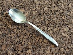 "Oneida Twin Star Spoon 1 Teaspoon Stainless Community Flatware Silverware 6 7/8"" #Oneida"