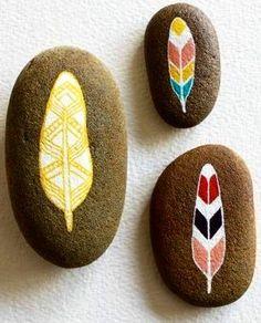 Feather garden stones