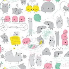 Simple shapes. Cute characters.