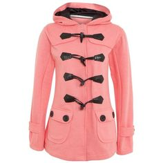 Parisian Pink Toggle Jersey Coat ($46) found on Polyvore