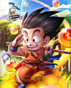 Kid Goku Riding on Nimbus Finding Dragon Balls Goku Wallpaper, Kid Goku, Black Spiderman, Sketch Tattoo Design, Fantasy Art Men, Z Arts, Dragon Ball Gt, Anime Art, Illustration