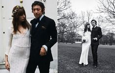 For those who will get married on winter, but like the freshness of the warmest and flowery climates, Jane Birkin can be an inspiration. The muse of the 60s and 70s always sought originality in time to get dressed, and married in 1968 with Serge Gainsbourg wearing a delicate crochet dress, with V-cleavage neckline. To complete the bossa look, a crown of delicate flowers and loose hair, with a remarkable fringe.
