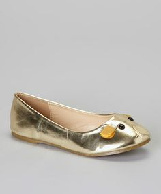 Another great find on #zulily! Gold Mause Flat by QQ Girl #zulilyfinds