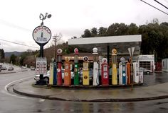 Antique Gas Pumps at Saranap's Filling Station - Walnut Creek CA. Live there.