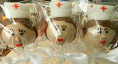 12 Nurse Cake Pops!! You select skin tone and hair color!! Please select the cake flavor: (Please select one flavor per dozen) Triple Chocolate Fudge Very Vanilla Strawberry Surprise Retro Red Velvet