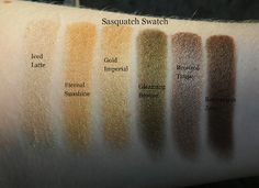 Sasquatch Swatch: L'Oreal Infallible Eyeshadows