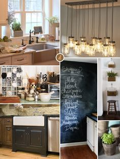 Kitchen Inspiration! Farmhousestyle kitchen inspiration moodboard // thedizaincollective.com
