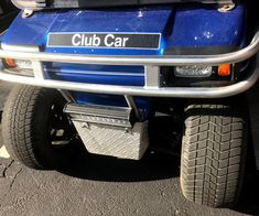 This custom golf cart accessory gives a sporty look to your cart while adding protection to the front cowl. #customgolfcartaccessory #golfcartbrushguard Custom Golf Cart Bodies, Custom Golf Carts, Best Golf Cart, Golf Cart Wheels, Custom Body Kits, Golf Cart Accessories, Fender Flares, Sporty Look, Cowl