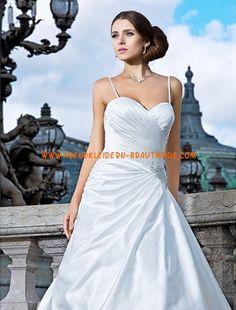 Romantische Luxuriöse Brautmode aus Satin Herzausschnitt