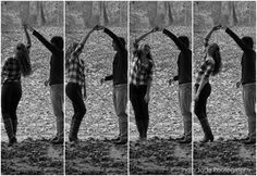 Cute couple's picture idea ;)  legitimately the cutest couple I've ever seen here on pinterest...