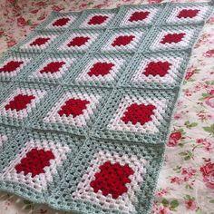 Gehaakte granny square deken.Gehaakt van Stylecraft dk en haaknaald 4.